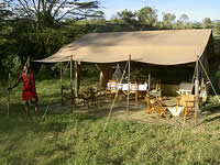 Wining and dining in style on safari.