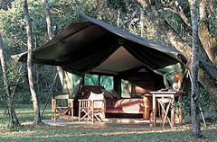 Richard's Camp in the Masai Mara, Kenya.