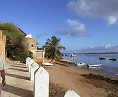 The Shella seafront on Lamu Island.